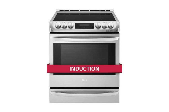 LG LSE4616BD 30in Induction Range Black Stainless